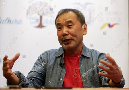 Japanese novelist Haruki Murakami speaks in Quito, Ecuado, 08 November 2018. Murakami is tattending the International Book and Reading Fair (Fill 2018) of Quito, which opens on 09 November at a convention center in the Ecuadorian capital.