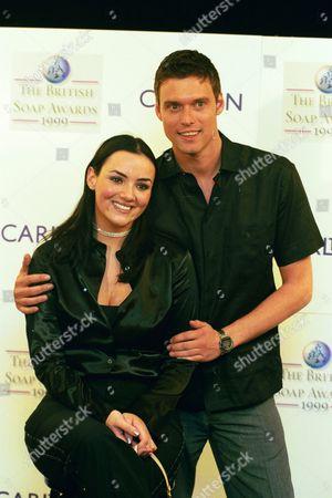 Stephen Billington And Martine Mccutcheon At The British Soap Awards 1999.