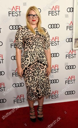 """Stock Image of Amanda de Cadanet. Amanda de Cadenet poses at the premiere of the film """"On the Basis of Sex"""" on the opening night of the 2018 AFI Fest, in Los Angeles"""