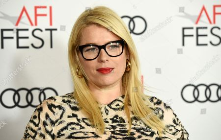 """Amanda de Cadanet. Amanda de Cadenet poses at the premiere of the film """"On the Basis of Sex"""" on the opening night of the 2018 AFI Fest, in Los Angeles"""