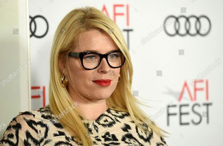 """Stock Picture of Amanda de Cadanet. Amanda de Cadenet poses at the premiere of the film """"On the Basis of Sex"""" on the opening night of the 2018 AFI Fest, in Los Angeles"""