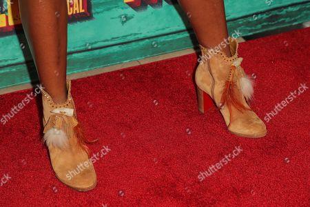 Shanola Hampton, shoe detail