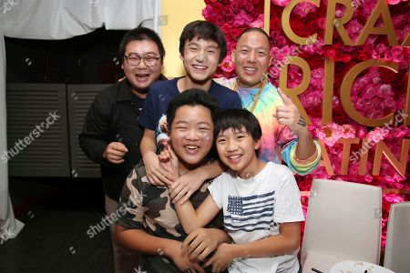 "Chris Chang, Forest Wheeler, Eddie Huang, Hudson Yang, Ian Chen. Chris Chang, Forest Wheeler, chef Eddie Huang, Hudson Yang and Ian Chen seen at Crazy Rich Eating: A Pop-Up Restaurant Inspired by ""Crazy Rich Asians"", in West Hollywood, Calif"