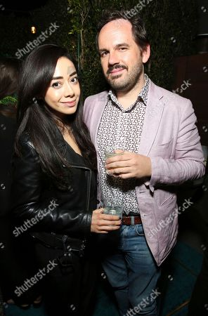 "Aimee Garcia, Mike Costa. Aimee Garcia and Mike Costa seen at Crazy Rich Eating: A Pop-Up Restaurant Inspired by ""Crazy Rich Asians"", in West Hollywood, Calif"
