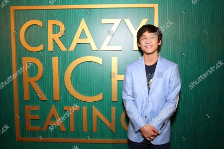 """Forrest Wheeler seen at Crazy Rich Eating: A Pop-Up Restaurant Inspired by """"Crazy Rich Asians"""", in West Hollywood, Calif"""