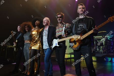 Stock Picture of Simple Minds - Charlie Burchill, Cherisse Osei, Sarah Brown, Jim Kerr, Gordy Goudie, Ged Grimes