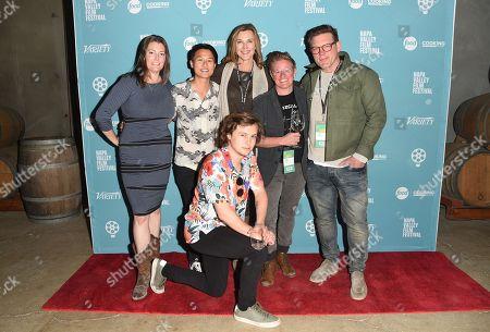 Tyler Florence, Melissa King, Logan Miller, Christa Leudtke, Brenda Strong, and Variety's Carole Horst