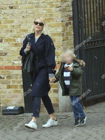 Stock Picture of Holly Willoughby and son Chester William Baldwin