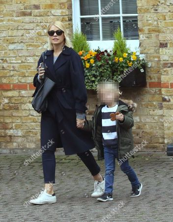 Stock Image of Holly Willoughby and son Chester William Baldwin