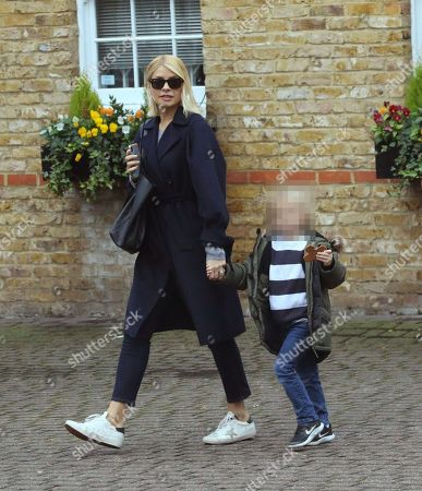 Stock Photo of Holly Willoughby and son Chester William Baldwin