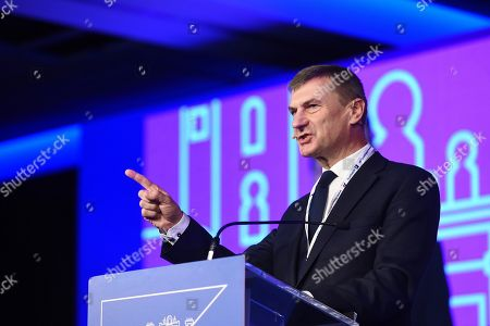 Vice President of Digital Single Market, a strategy of the European Commission to ensure access to online activities for individuals and businesses, Andrus Ansip speaks during the Alliance of Liberals and Democrats for Europe (ALDE) Party Congress 2018, in Madrid, Spain, 09 November 2018. The ALDE Party Congress takes place from 09 to 10 November.