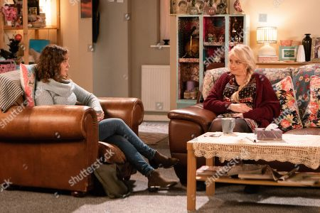 Ep 9613 Wednesday 14th November 2018 - 2nd Ep Sinead Tinker, as played by Katie McGlynn, invites her new friend Steff, as played by Sarah Middleton, for a brew and they talk about the alternatives to chemo.
