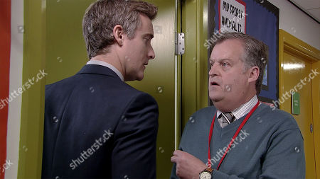 Ep 9620 Friday 23rd November 2018 - 1st Ep Brian Packham, as played by Peter Gunn, is exhausted after working all night on the play only to discover that there was no real urgency at all. Fiz Stape and Tyrone Dobbs complain to Brian that hope has been excluded for biting a teacher. Brian wishes he could help but his hands are tied. Cathy is concerned about the pressure Phil, as played by Tom Turner, is putting Brian under.