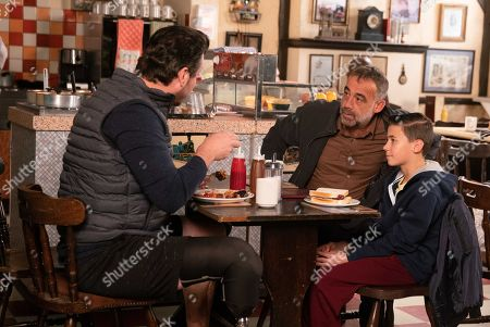 Ep 9624 Wednesday 28th November 2018 - 1st Ep After a successful physio session, Jack Webster, as played by Kyran Bowes, announces that he wants to do some fundraising for the hospital. Kevin Webster's, as played by Michael Le Vell, proud of his son. Jack reveals his one-legged race fundraiser idea to Greg, as played by Cassidy Little.