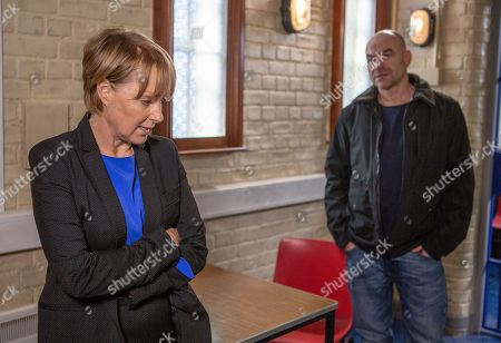 Ep 9619 Wednesday 21st November 2018 - 2nd Ep Paula, as played by Stirling Gallacher, tries to get Sally Metcalfe, as played by Sally Dynevor, to remember what she did on her birthday as Duncan is saying they spent the night together at hotel.