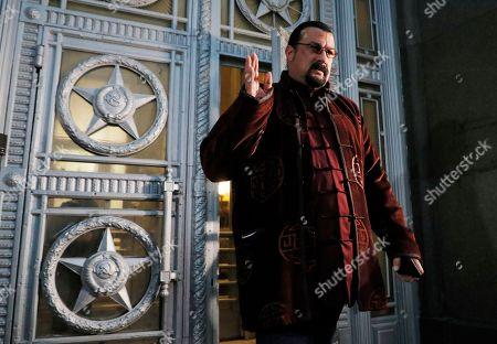 Steven Seagal, US actor, producer and martial artist walks out of the Russian Foreign Ministry office in Moscow, Russia, 09 November 2018. Stven Seagal was appointed by Russian president in 2018 as a Special Representative for Russia - US Cultural Links, Cultural and Historical Heritage. Two years ago he was granted Russian citizenship.
