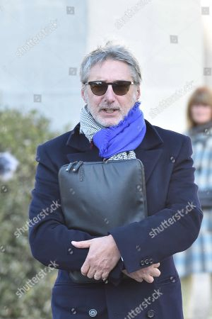 Antoine De Caunes a French television presenter attending the funeral
