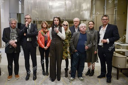 Cecile Guilbert, Laure Adler, Michel Crepu, Charles Dantzig, Arnaud Vivian, Dominique Noguez, Patricia Martin and Amelie Nothomb awarded Michael Ferrier