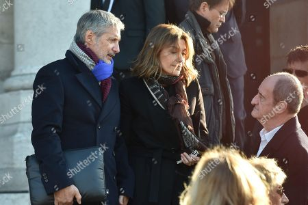 Antoine de Caunes taking with  Daphne Roulier
