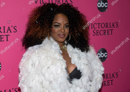 Stock Image of Leela James attends the 2018 Victoria's Secret Fashion Show at Pier 94, in New York