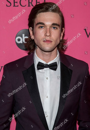 Gabriel-Kane Day-Lewis attends the 2018 Victoria's Secret Fashion Show at Pier 94, in New York