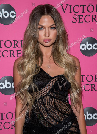 Erika Costell attends the 2018 Victoria's Secret Fashion Show at Pier 94, in New York