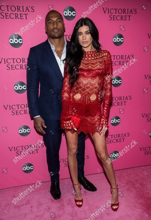 Larry English, Nicole Williams. Larry English and Nicole Williams attend the 2018 Victoria's Secret Fashion Show at Pier 94, in New York