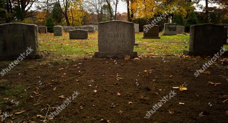 Stock Picture of The grave site of James Joseph 'Whitey' Bulger is seen at St Joseph's Cemetery in Boston, Massachusetts, USA 09 November 2018. Bulger, a notorious mobster from the South Boston neighborhood was killed in prison on 30 October 2018 in the United States Penitentiary, Hazelton at the age of 89. Bulger had been in hiding for 16 years after being an FBI informant against his rivals, the Italian-American Patriarca crime family. Bulger's private funeral and burial were held on 08 November 2018.