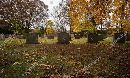 The grave site of James Joseph 'Whitey' Bulger is seen at St Joseph's Cemetery in Boston, Massachusetts, USA 09 November 2018. Bulger, a notorious mobster from the South Boston neighborhood was killed in prison on 30 October 2018 in the United States Penitentiary, Hazelton at the age of 89. Bulger had been in hiding for 16 years after being an FBI informant against his rivals, the Italian-American Patriarca crime family. Bulger's private funeral and burial were held on 08 November 2018.