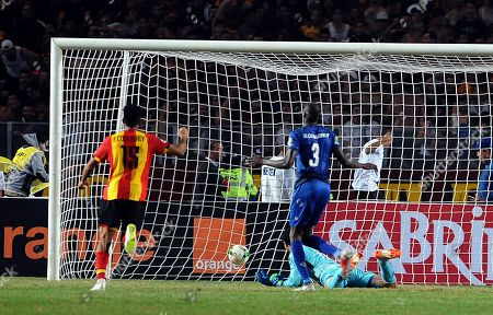 Al-Ahly's goalkeeper Mohamed El-Shenawy fails to save a goal during the CAF Champions League final 2nd leg match between ES Tunis and Al Ahly at the Stade Olympique de Rades in Tunis, Tunisia, 09 November 2018.