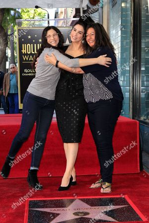L-R: Laura Silverman, US actress Sarah Silverman, Susan Silverman during a ceremony honoring Silverman with a star on the Hollywood Walk of Fame in Hollywood, California, USA, 09 November 2018. Silverman received the 2,649th star in the Television category.
