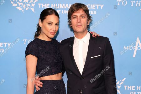 Rob Thomas, Marisol Thomas. Rob Thomas and Marisol Thomas walk the red carpet at The Humane Society of the United States To the Rescue! New York Gala on in New York City. To the Rescue! is a benefit in celebration of the life-saving work of its animal rescue efforts across the nation and around the world. In its ninth year, the event honored Katie Sturino and Toast as well as Gucci and Golden Globe and Emmy Award-winning comedian, actor and director Ricky Gervais. The evening featured performances by Broadway's Erich Bergen and Sutton Foster