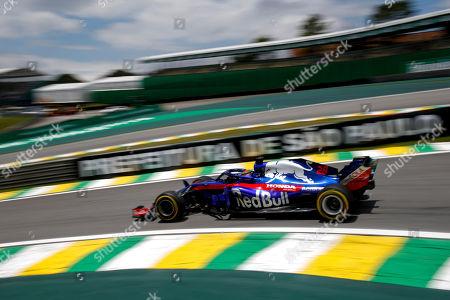 Motorsports: FIA Formula One World Championship 2018, Grand Prix of Brazil World Championship;2018;Grand Prix;Brazil ,   , #28 Brendon Hartley (NZL Toro Rosso, Ferrari) ,