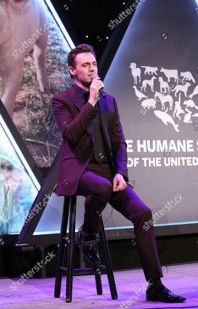 Erich Bergen performs at the The Humane Society of the United States To the Rescue! New York Gala on in New York City. To the Rescue! is a benefit in celebration of the life-saving work of its animal rescue efforts across the nation and around the world. In its ninth year, the event honored Katie Sturino and Toast as well as Gucci and Golden Globe and Emmy Award-winning comedian, actor and director Ricky Gervais. The evening featured performances by Broadway's Erich Bergen and Sutton Foster