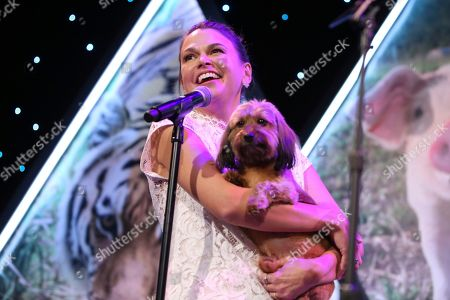 Sutton Foster speaks at the The Humane Society of the United States To the Rescue! New York Gala on in New York City. To the Rescue! is a benefit in celebration of the life-saving work of its animal rescue efforts across the nation and around the world. In its ninth year, the event honored Katie Sturino and Toast as well as Gucci and Golden Globe and Emmy Award-winning comedian, actor and director Ricky Gervais. The evening featured performances by Broadway's Erich Bergen and Sutton Foster
