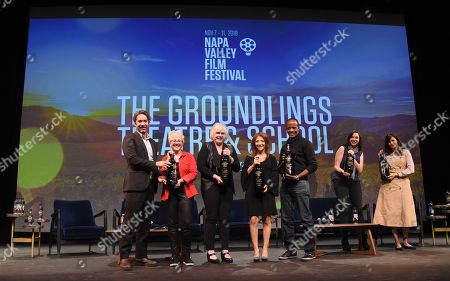 Michael Churven, Stephanie Courtney, Tracy Newman, Cheri Oteri, Julia Sweeney, Jordan Black, and Michaela Watkins