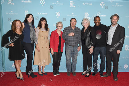 Michael Churven, Stephanie Courtney, Tracy Newman, Cheri Oteri, Julia Sweeney, Jordan Black, and Michaela Watkins
