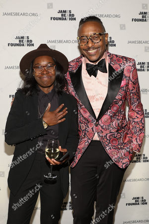 Stock Picture of Roshara Sanders, Gregory Gourdet