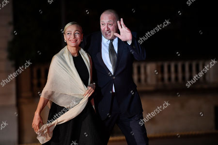 Georgia's President Giorgi Margvelashvili and his wife Maka Chichua arrives at the official dinner on the eve of the international ceremony for the Centenary of the WWI Armistice of 11 November 1918 at the Orsay museum in Paris, France, 10 November 2018. Heads of State and Government commemorate the memory of their fallen soldiers in France.