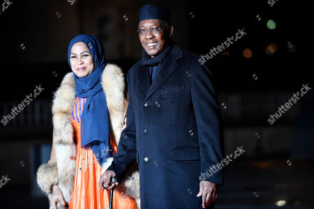 Chad's President Idriss Deby Itno (R) arrives at the official dinner on the eve of the international ceremony for the Centenary of the WWI Armistice of 11 November 1918 at the Orsay museum in Paris, France, 10 November 2018. Heads of State and Government commemorate the memory of their fallen soldiers in France.