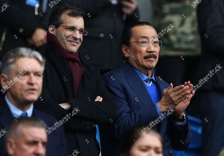 Cardiff City owner Vincent Tan in the stands