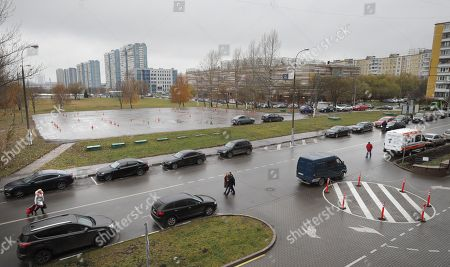 A general view of Kim Philby Square in Moscow, Russia, 10 November 2018. Sergei Sobyanin mayor of Moscow ordered that an intersection in the south-west of the Russian capital near the headquarters of its Foreign Intelligence Service be renamed Kim Philby Square. The move comes as relations between London and Moscow have plunged their lowest since the end of the Cold War over the poisoning of former spy Sergei Skripal in Salisbury. The British double agent defected to the Soviet Union in 1963 and died in 1988.