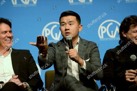 Ronny Chieng speaks in the 'Producing Masterclass: The Creative Collaborations' panel during the 2018 Producers Guild of America's Produced By: New York conference at One Time Warner Center, in New York