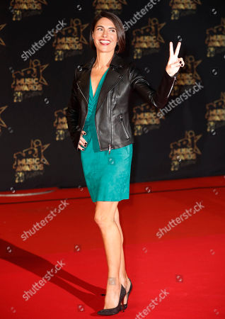 French TV host Alessandra Sublet arrives for the 20th NRJ Music Awards at the Palais des Festivals in Cannes, France, 10 November 2018.