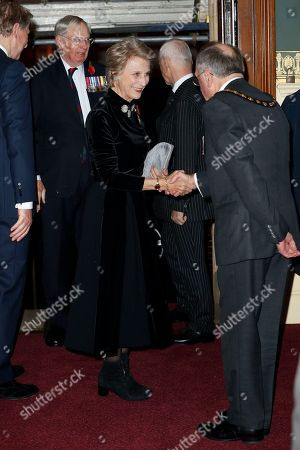 Birgitte, Duchess of Gloucester attends the Royal British Legion Festival of Remembrance at the Royal Albert Hall in London, . The Queen and members of the Royal Family are attending the annual Festival of Remembrance to commemorate all those who have lost their lives in conflicts and will mark 100 years since the end of the First World War