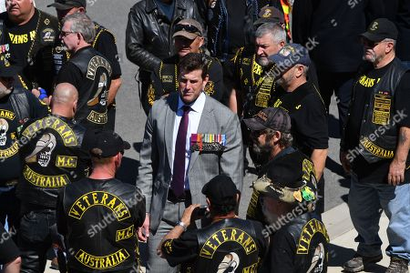 Victoria Cross recipient Ben Roberts-Smith arrives for Remembrance Day commemorations at the Australian War Memorial in Canberra, Australia, 11 November 2018. This Remembrance Day marks the 100th anniversary of the signing of the armistice to end World War One in 1918.