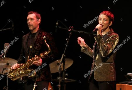 Stacey Kent (R) and saxophonist Jim Tomlinson perform during the 39th International Jazz Festival of Granada, at the Isabel la Catolica Theater, in Granada, Spain, 10 November 2018.