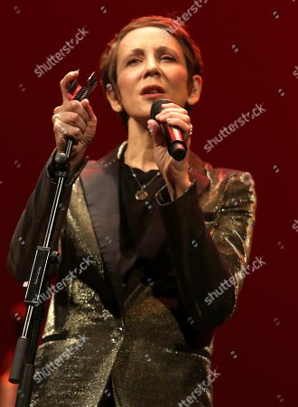 Stacey Kent performs during the 39th International Jazz Festival of Granada, at the Isabel la Catolica Theater, in Granada, Spain, 10 November 2018.