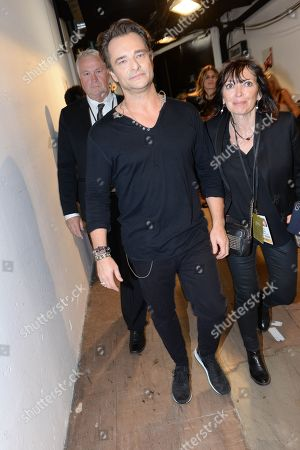 David Hallyday backstage