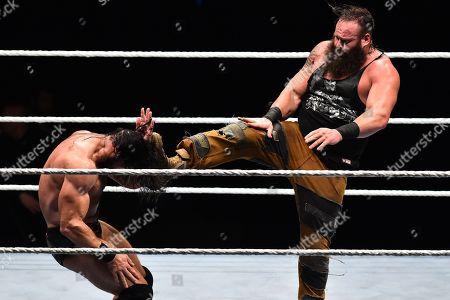 Braun Strowman and Drew McIntyre